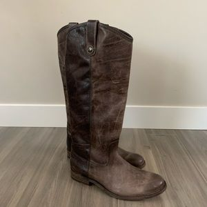 Frye Melissa Button Boots Size 8 M Slate
